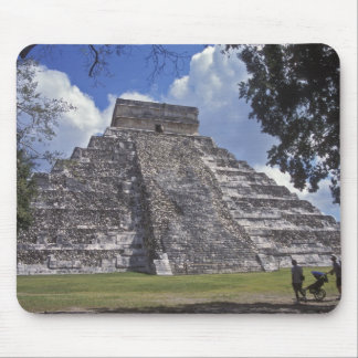 Tourists walk past an unrestored side of El 2 Mouse Pad