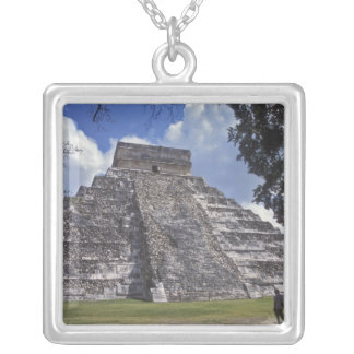 Tourists walk past an unrestored side of El 2 Silver Plated Necklace