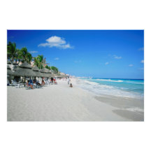Art Deco Travel Posters Vintage Retro Holiday Tourism Cancun Mexico