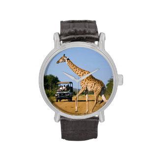 Tourists Watching Giraffe Wristwatches