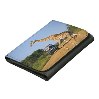 Tourists Watching Giraffe Wallets