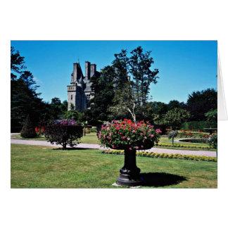 Tourlaville Chateau, France  flowers Card
