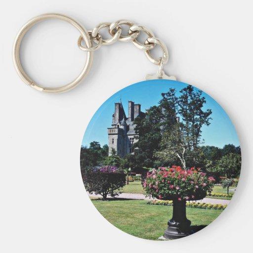 Tourlaville Chateau, France  flowers Key Chains