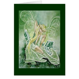 Tourmaline del faery de la primavera tarjeta pequeña