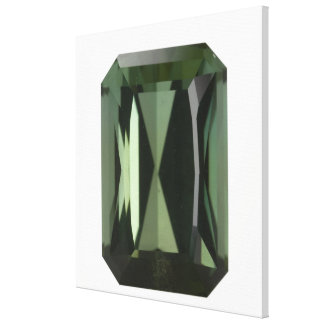 Tourmaline gem, 3 canvas print