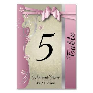 Tourmaline rosado con clase del vintage - números