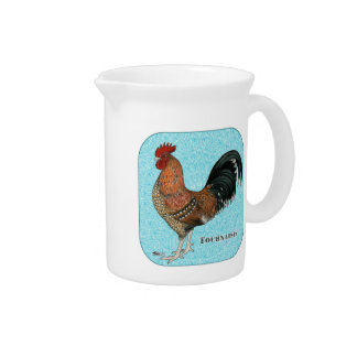 Tournaisis Rooster Drink Pitcher