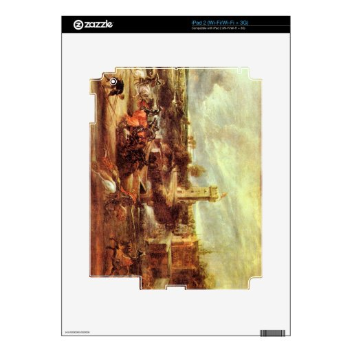 Tournament at a castle by Paul Rubens iPad 2 Skin