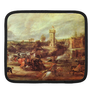 Tournament at a castle by Paul Rubens Sleeves For iPads