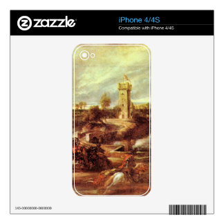 Tournament at a castle by Paul Rubens iPhone 4 Skin