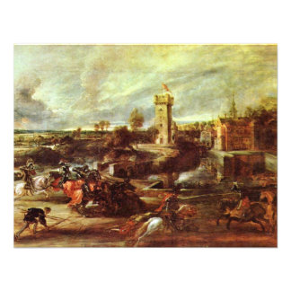 Tournament At A Castle By Rubens Peter Paul Announcement