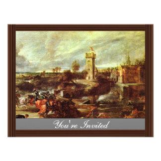 Tournament At A Castle By Rubens Peter Paul Announcements