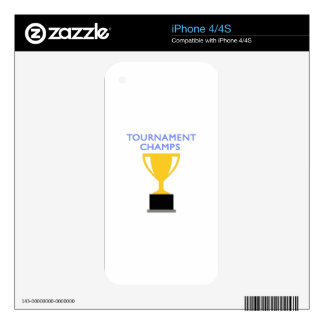 TOURNAMENT CHAMPS SKIN FOR iPhone 4