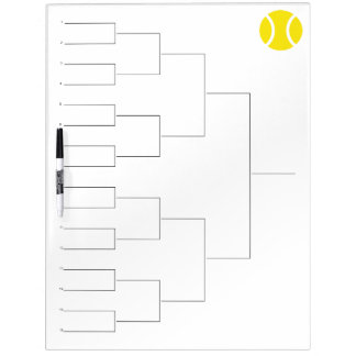 Tournament draw for 16 players | Dry erase board