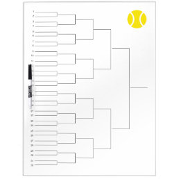 Tournament draw for 32 players | dry erase board