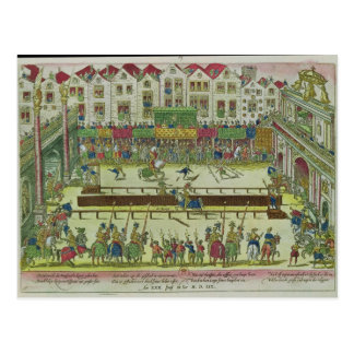 Tournament during which Henri II Postcard