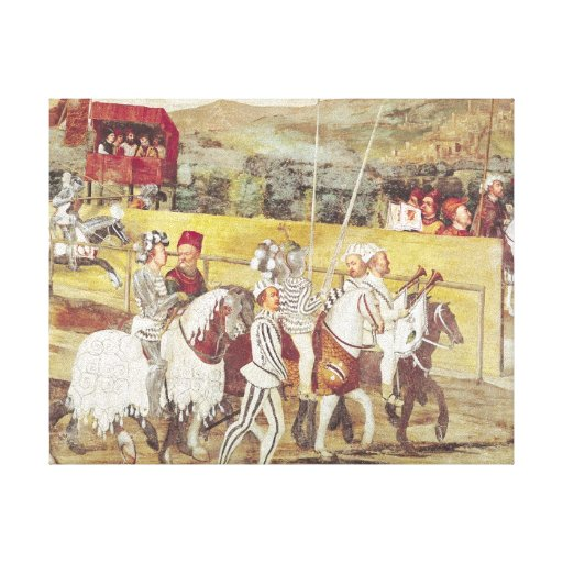 Tournament in Honour of Christian I  of Stretched Canvas Prints