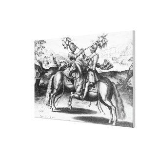 Tournament scene between Henri IV  and Antoine Canvas Print