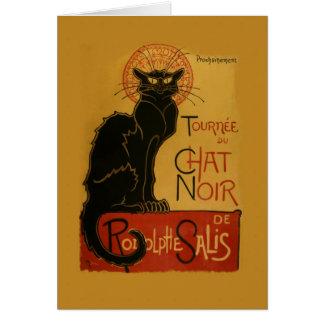 Tournee de Chat Noir Black Cat Card
