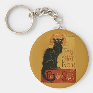 Tournee de Chat Noir Black Cat Basic Round Button Keychain