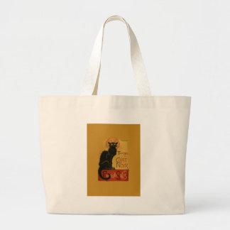 Tournee de Chat Noir Black Cat Large Tote Bag