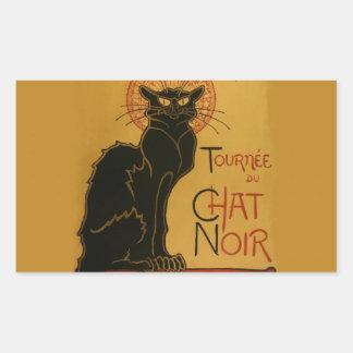 Tournee de Chat Noir Black Cat Rectangular Sticker