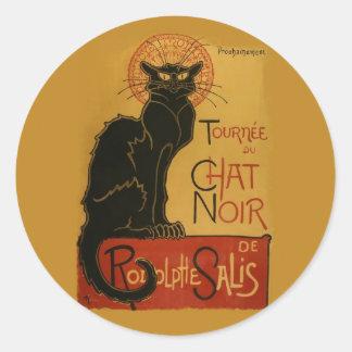 Tournee de Chat Noir Black Cat Classic Round Sticker