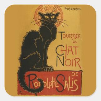 Tournee de Chat Noir Black Cat Square Sticker