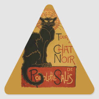 Tournee de Chat Noir Black Cat Triangle Sticker