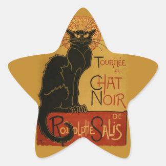 Tournee de Chat Noir Black Cat Star Sticker