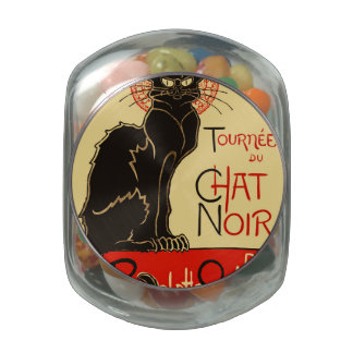 Tournée du Chat Noir Art Nouveau Jelly Belly Candy Jar