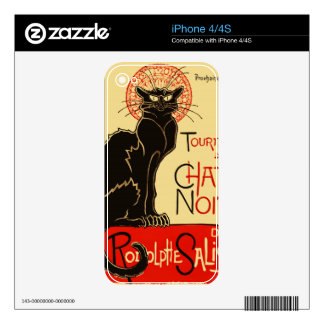 Tournée du Chat Noir Art Nouveau Skin For iPhone 4