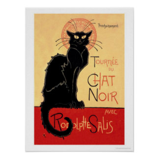 Tournee du Chat Noir Avec Rodolptte Salis Poster