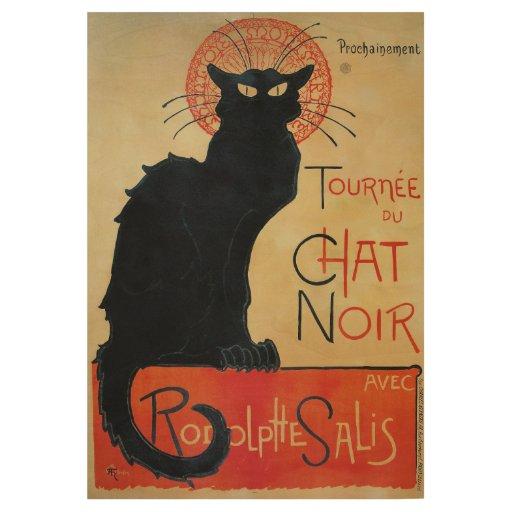 Tournee du Chat Noir Black Cat Cabaret Wood Poster