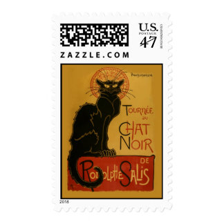 Tournee du Chat Noir - Black Cat Postage