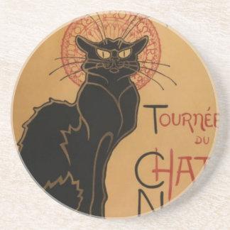 Tournee du Chat Noir Sandstone Coaster