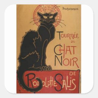 Tournee du Chat Noir Square Sticker