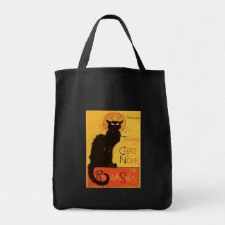 Tournée du Chat Noir, Steinlen Black Cat Vintage Tote Bags