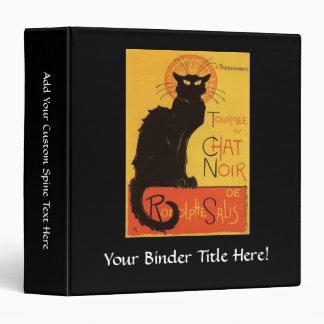 Tournée du Chat Noir, Steinlen Black Cat Vintage 3 Ring Binders