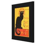 Tournée du Chat Noir, Steinlen Black Cat Vintage Gallery Wrapped Canvas
