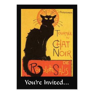 Tournée du Chat Noir, Steinlen Black Cat Vintage 5x7 Paper Invitation Card