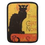 Tournée du Chat Noir, Steinlen Black Cat Vintage Sleeve For iPads