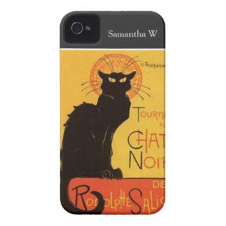 Tournée du Chat Noir, Steinlen Black Cat Vintage iPhone 4 Case-Mate Cases