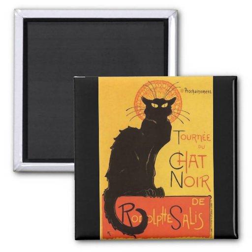 Tournée du Chat Noir, Steinlen Black Cat Vintage Magnets