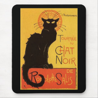 Tournée du Chat Noir, Steinlen Black Cat Vintage Mouse Pad