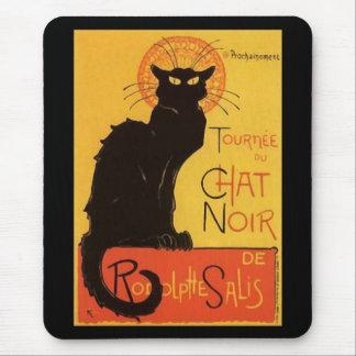 Tournée du Chat Noir, Steinlen Black Cat Vintage Mouse Pad
