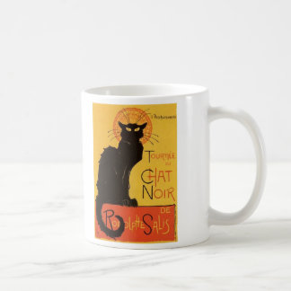Tournée du Chat Noir Steinlen Black Cat Vintage Coffee Mug