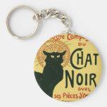 Tournée du Chat Noir, Theophile Steinlen Basic Round Button Keychain