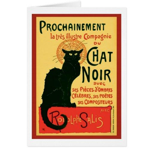 Tournée du Chat Noir, Theophile Steinlen Greeting Card
