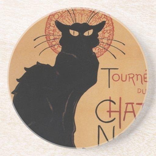 Tournée du Chat Noir, Théophile Steinlen Coasters